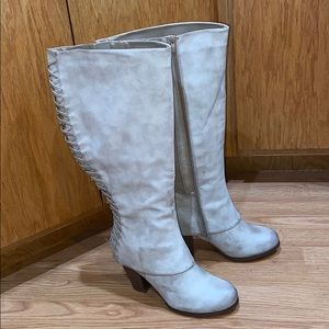 Torrid extra wide calf taupe NWOT tall boots